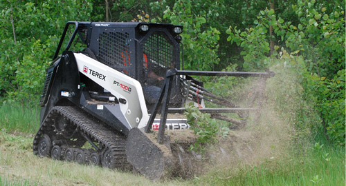 Extra Large Terex with mulcher